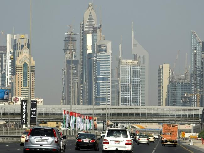A British man is facing six months in a Dubai jail for giving the finger to a fellow driver. Picture: AFP/Karim Sahib