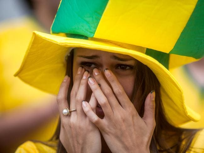 A Brazil fan can hardly watch.