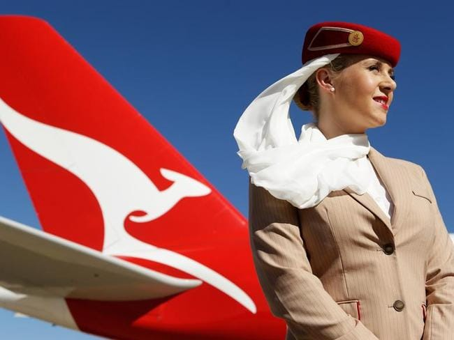 Qantas and Emirates have renewed their partnership for another five years. Picture: Brendon Thorne/Bloomberg