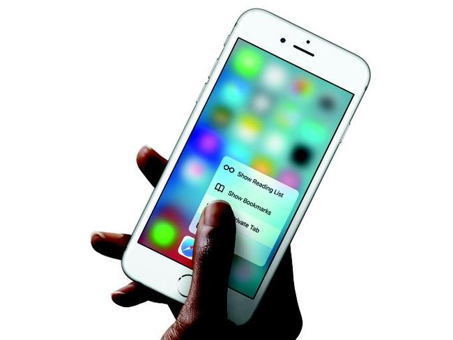 The iPhone 6s' big new feature is called '3D touch'.
