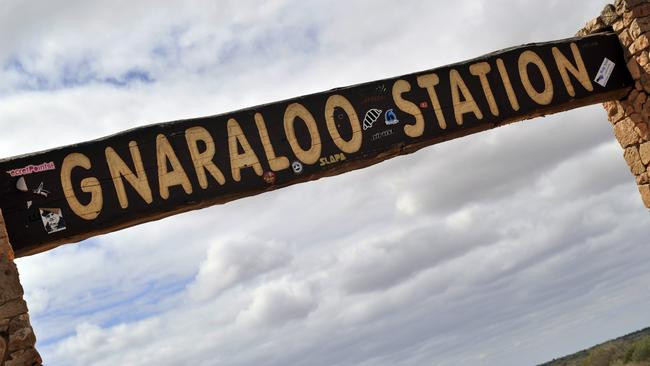 Famous for its beaches, surf and fish ... the entry gate to Gnaraloo Station north of Carnarvon in Western Australia. Picture: Stewart Allen