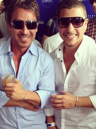 John Ibrahim and son Daniel. Daniel has been arrested today in Sydney.