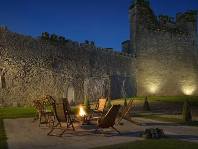 Romantic setting ... the resort sits next to the ruins of an 800-year-old castle.