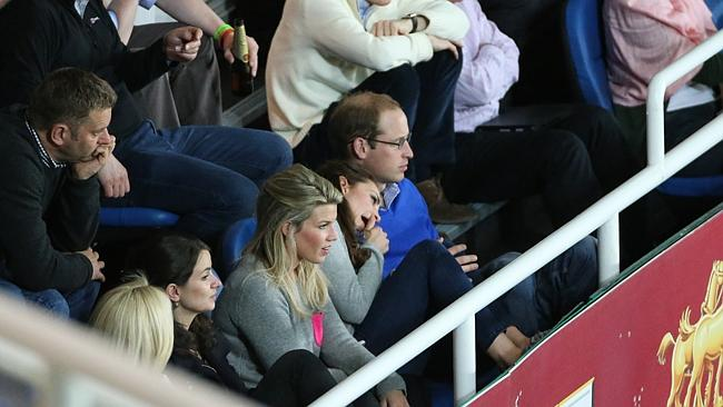The royal couple snuck in a few hours of recreational time, watching the Waratahs defeat the Blue Bulls at Allianz Stadium on Saturday night. Picture: Attila Szilvasi.