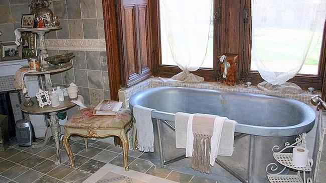 Chateau de Challagne, France. Modern bathrooms are nice, but not many have the character of one that dates back to 1800s. Picture: HomeAway.com.au