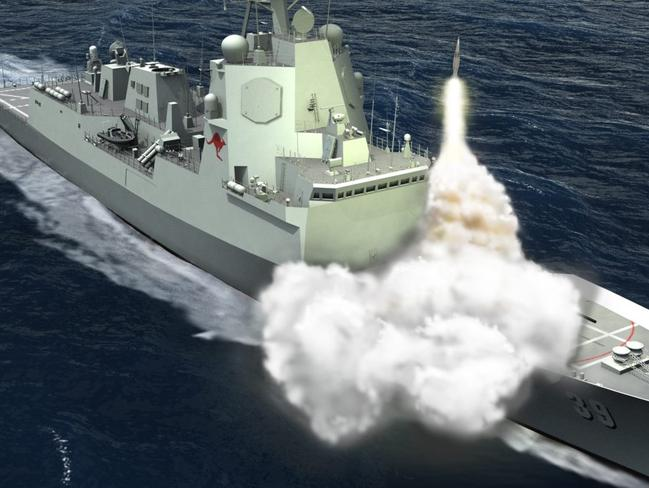 Computer generated image ... The Hobart-class Air Warfare Destroyer (AWD) for the Royal Australian Navy ( RAN). Picture: Defence Department