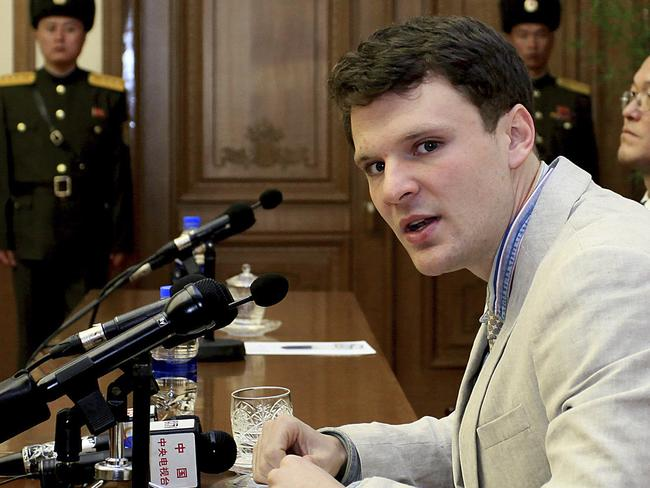 American student Otto Warmbier has died. Picture: AP/Kim Kwang Hyon