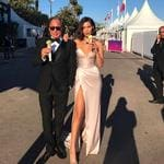 "Bella Hadid and her father Mohamed Hadid at the 2017 Cannes Film Festival ... ""The one"" Picture: @bellahadid/Instagram"