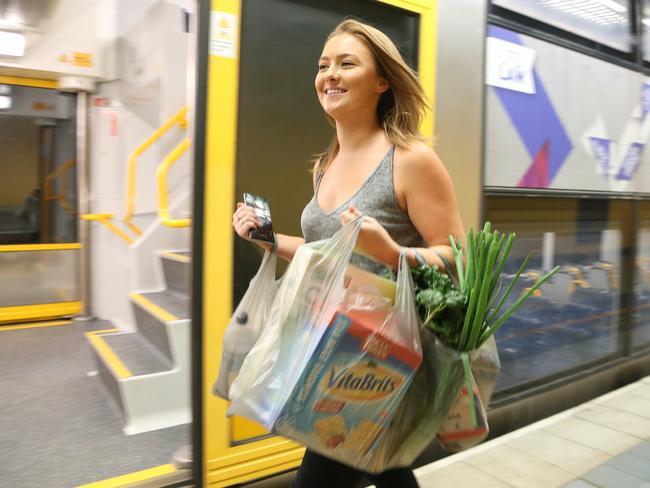 Commuters can now pick up their groceries at Bondi Junction train station on their way home from work. Picture: Adam Taylor
