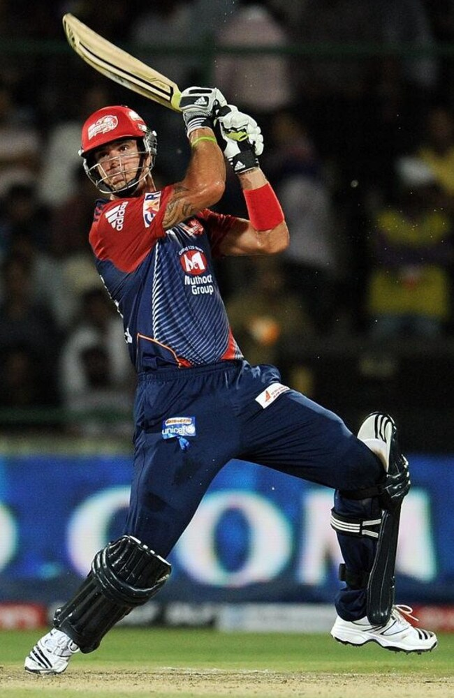 Pietersen plays a shot during a stint with the Delhi Daredevils in the IPL.