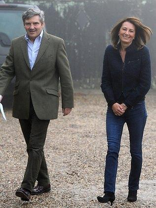 Ma and Pa Midleton have lunched with the in-laws for the first time. Picture: AP