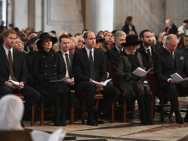 The royal family joined survivors of the Grenfell Tower fire at the multi-faith service.