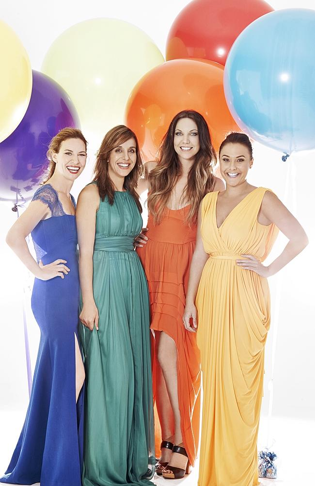 My Kitchen Rules 2014 grand finalists Bree and Jess, and Chloe and Kelly.