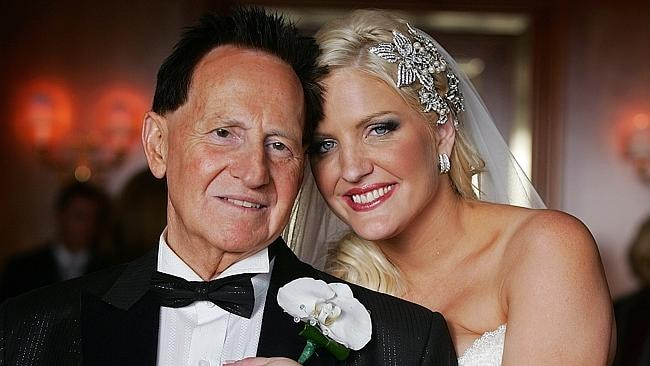 Brynne with former husband Geoffrey Edelsten. Picture: Getty Images
