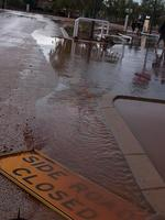 Exmouth floods. Picture: Kristen Anderson