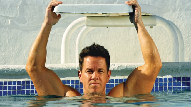 Waving, not drowning ... Wahlberg in the other Michael Bay film - Pain and Gain. Picture: Supplied
