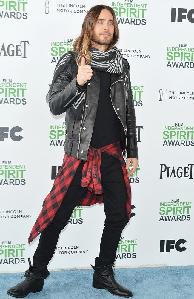 Jared Leto at the 2014 Film Independent Spirit Awards at Santa Monica Beach on March 1, 2014.