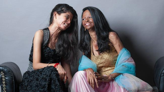 Rita and Laxmi share a laugh. Photo: Rahul Saharan.