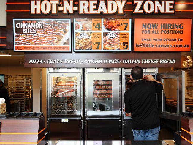 Little Caesars Pizza currently has four stores in Australia, with the goal of reaching at least 400.