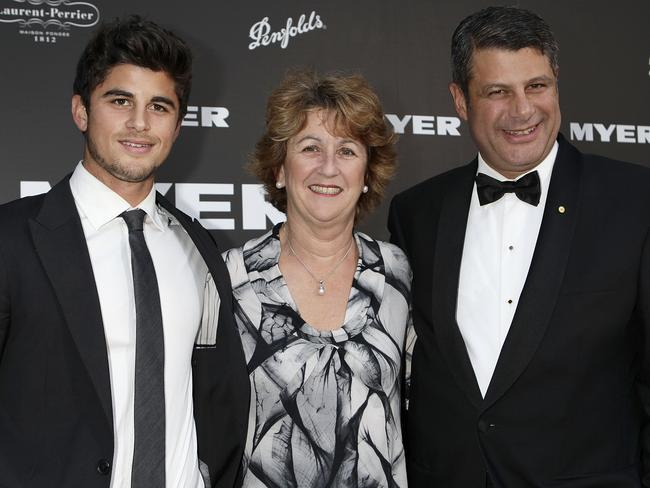 Drink driving incident ... Nick, Terry and Steve Bracks. Picture: News Corp Australia