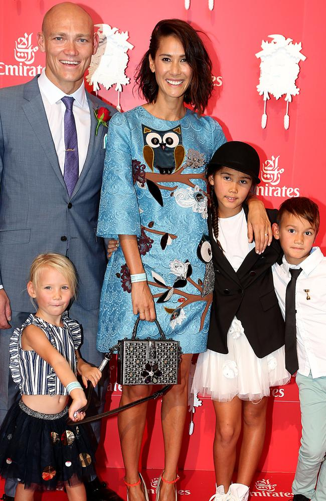 Michael and Lindy Klim with their children Frankie, Stella and Rocco.
