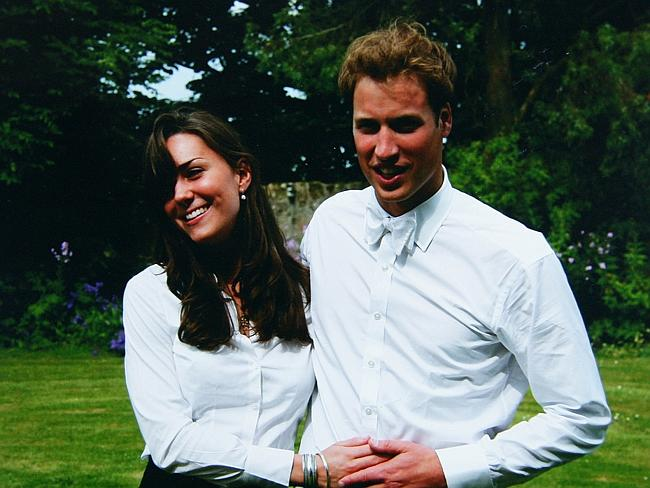 Younger days ... Kate Middleton and her fiancee Prince William in 2005. Picture: The Midd