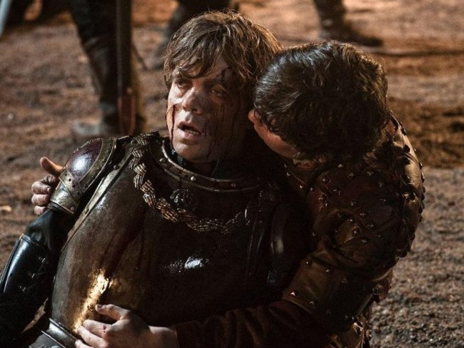 Pod and Tyrion having loads of fun during the battle.