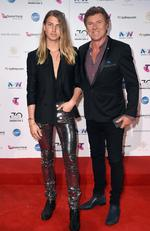 Richard and Christian Wilkins arrive on the red carpet for the 30th Annual ARIA Awards 2016 at The Star on November 23, 2016 in Sydney, Australia. Picture: AAP