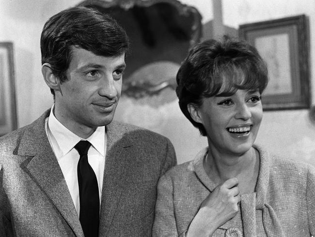 French actor Jean-Paul Belmondo and Jeanne Moreau in Seven Days ... Seven Nights in 1960.