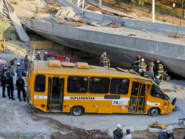 Tragedy ... at least 19 people have been injured in the collapse. Picture: AP