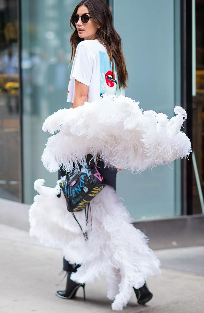 Lily Aldridge, pictured outside VS headquarters in New York, has been preparing for the show since August. Picture: Gotham/GC Images
