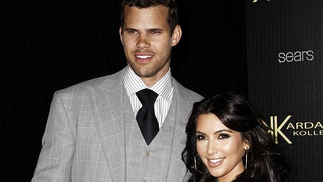 Kim with her ex-husband Kris Humphries. Their marriage lasted 72 days. Source: AP Photo
