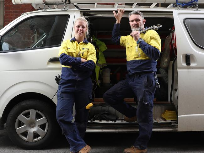 Plumbers are Australia's best paid tradies. Picture: Calum Robertson