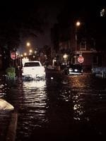 "<p>Nicole Greenfield @nmgreenfield: ""Clifford Place, 9pm"". #greenpoint #brooklyn #hurricanesandy #sandy #nyc Picture: Twitter</p>"
