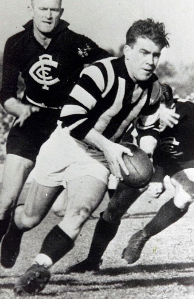 Lou Richards was a warrior for the Pies in his playing days.