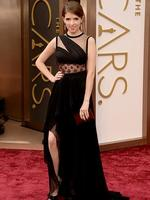 Actress Anna Kendrick on the red carpet at the Oscars 2014. Picture: AFP