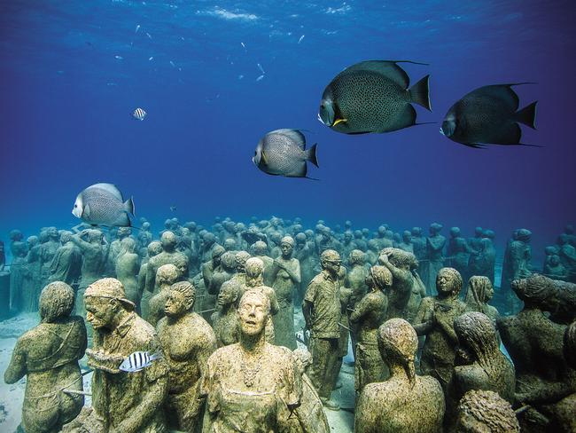Underwater art by Jason deCaires Taylor.