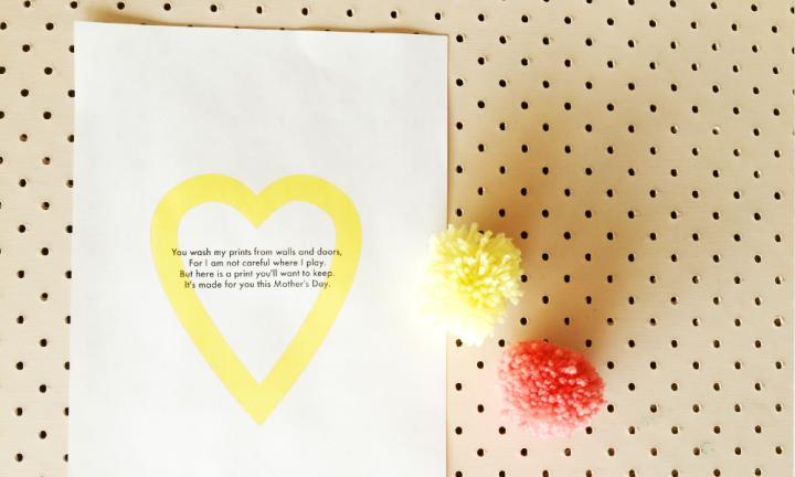 Mother's Day print poem