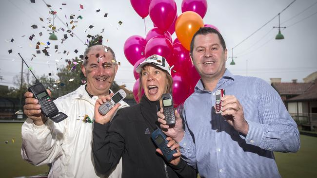 Telstra held a 2G retirement party at the Brunswick Bowls club to celebrate the switch-off of the 2G network. Picture: Sarah Matray