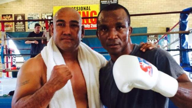 Boxers Alex Leapai and Sakio Bika.
