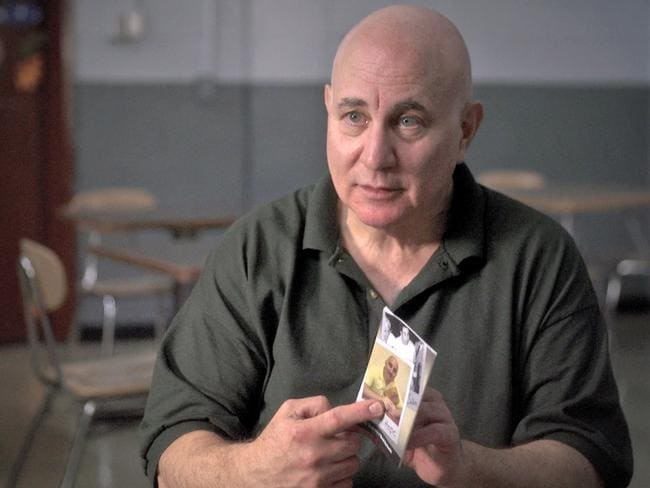 Son of Sam killer David Berkowitz is interviewed at the Shawangunk Correctional Facility in Wallkill, New York. In the interview Berkowitz spoke out about what led him to terrorise New York 40 years ago by killing six people and wounding seven others in seemingly random shootings from 1976 to 1977. Picture: CBS News via AP
