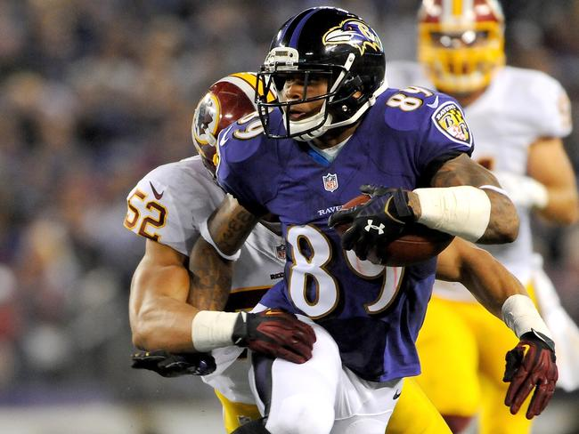 Steve Smith on the charge for the Ravens.