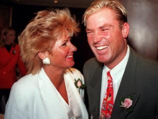 Cricketer Shane Warne with mother Brigitte at Mother's lunch at Crown Casino, Melbourne, 10/05/96. Warn/fam Cricket