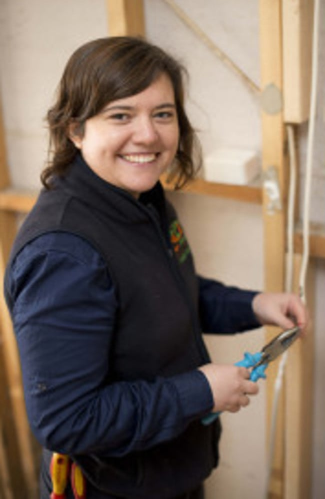 Melbourne-based electrician Sally Liddell.