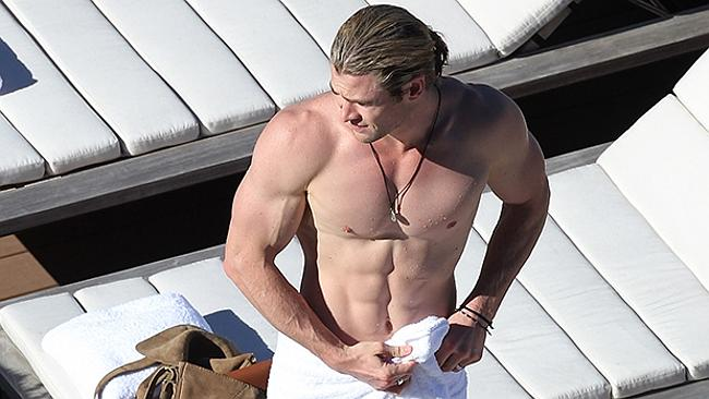 Chris Hemsworth's rig is ready to go. Picture: Splash