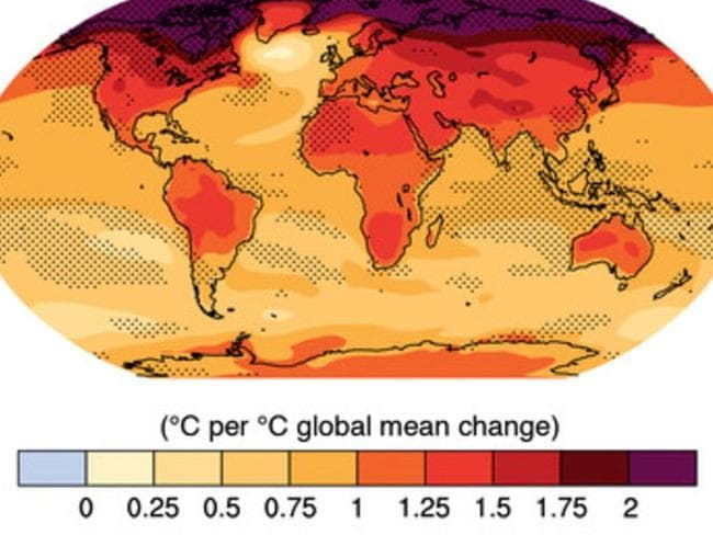 Map shows how the world will warm with the expansion of the tropical zone.