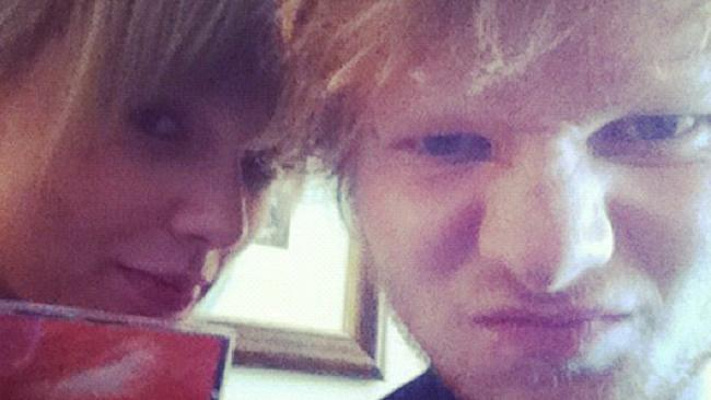 Best buds Taylor Swift and Ed Sheeran pose for a photograph. Picture: Instagram