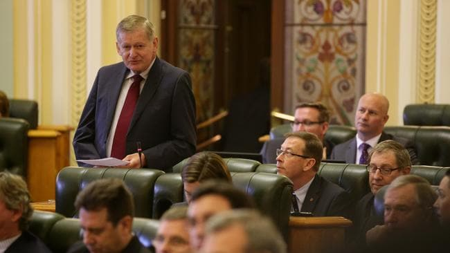 As the LNP Member for Stafford, Dr Chris Davis answers questions during Question Time in the Queensland Parliament last year. Picture: Liam Kidston