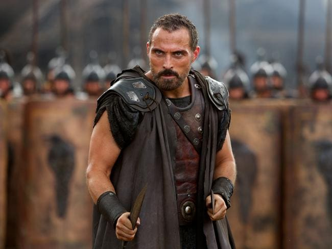 "Rufus Sewell followed a version of ""the Dwayne Johnson diet"" to bulk up for his role in  <i>Hercules</i>."