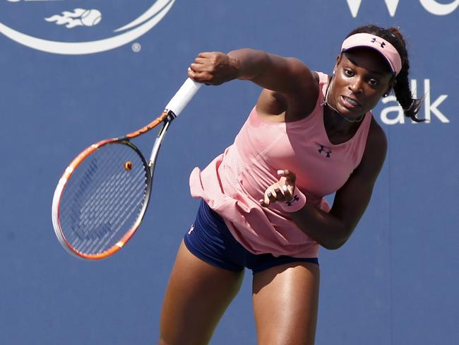 Sloane Stephens lost to Serena Williams last year in the fourth round.